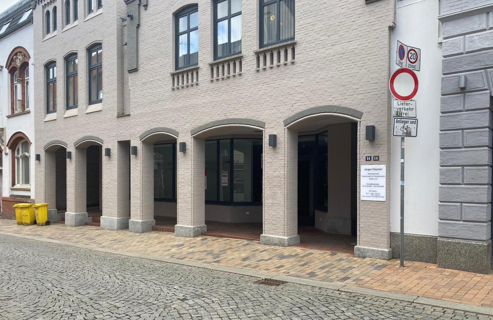Schnelltest-Zentrum Gebäude von außen